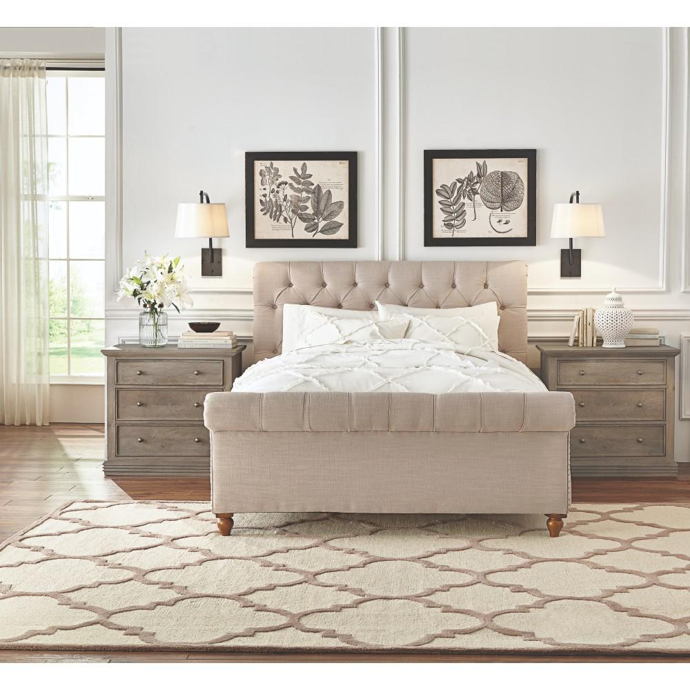 Best Home Decorators Collection Gordon Natural King Sleigh Bed This Month