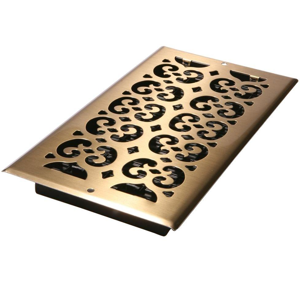 Best Decor Grates 6 In X 12 In Antique Brass Plated Steel This Month