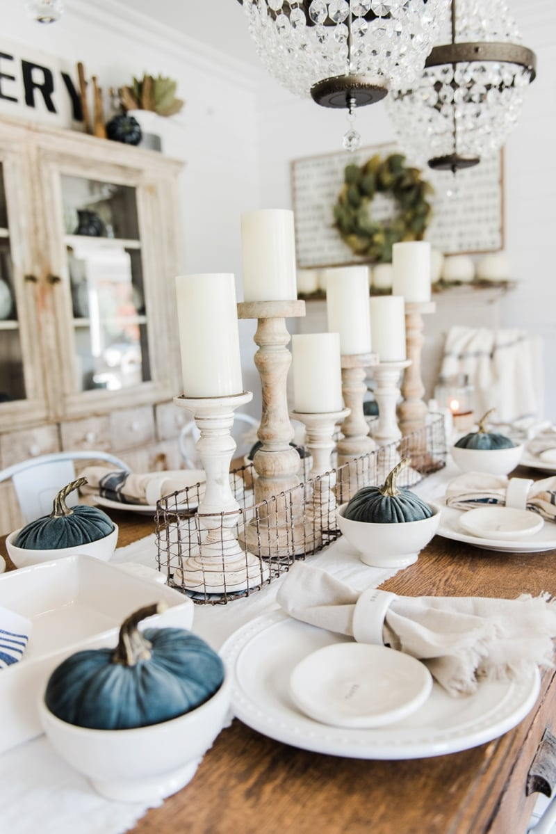 Best Simple Neutral Fall Farmhouse Dining Room This Month
