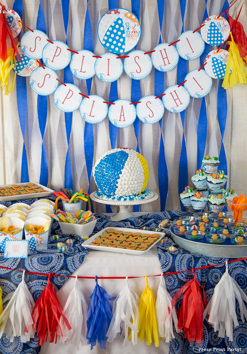 Best Beach Ball Pool Party Birthday Bash Press Print Party This Month
