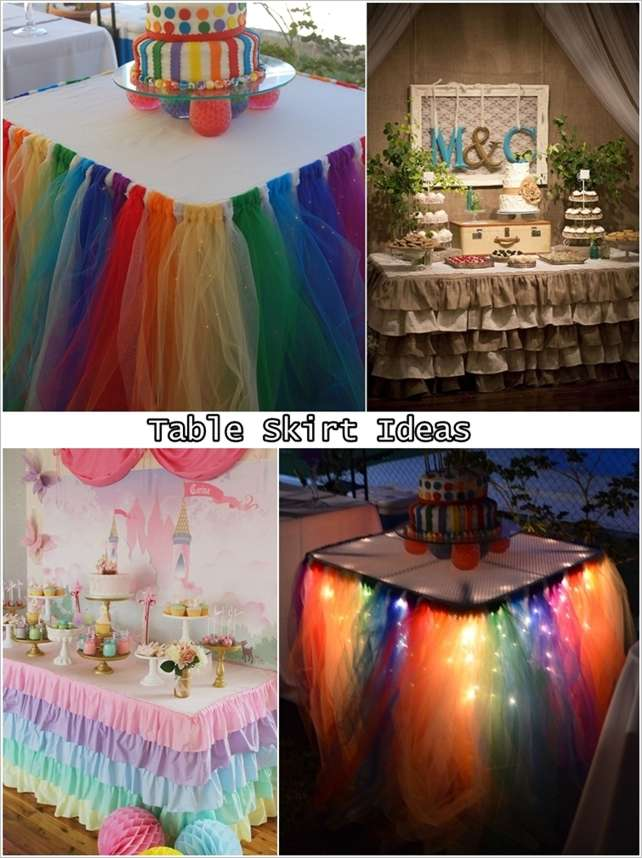 Best 5 Fabulous Table Skirt Ideas For Parties And Weddings This Month