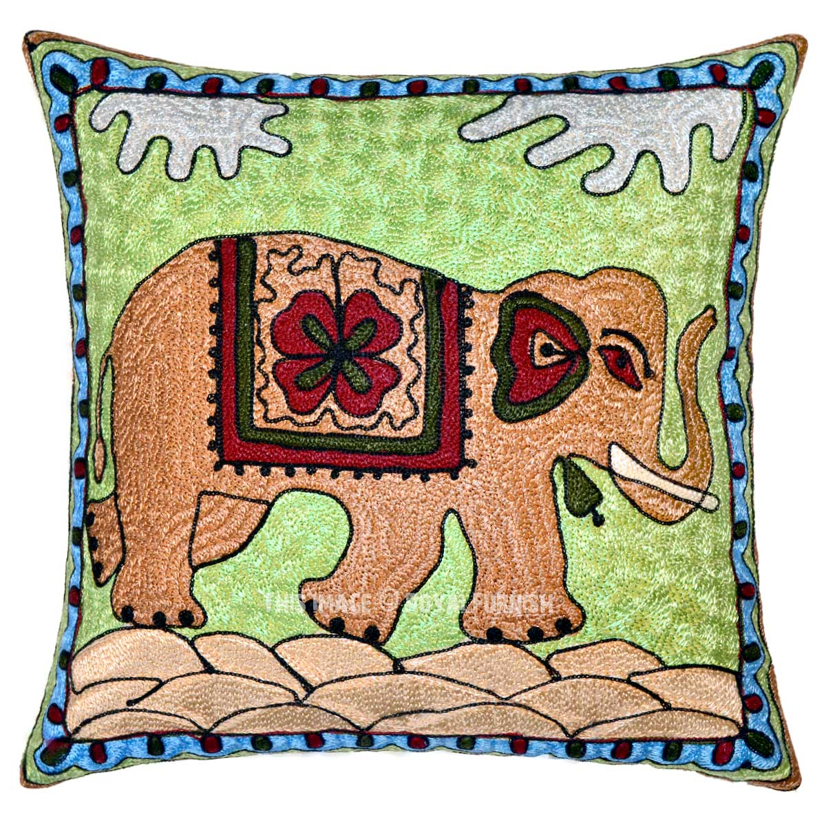 Best 16 Cotton Decorative Embroidered Elephant Throw Pillow This Month