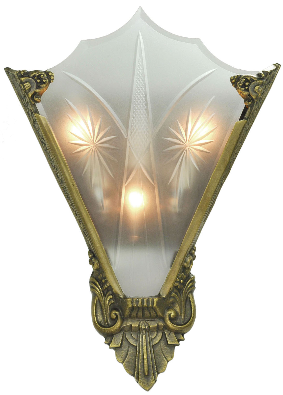 Best Vintage Hardware Lighting Art Deco Cut Glass And This Month
