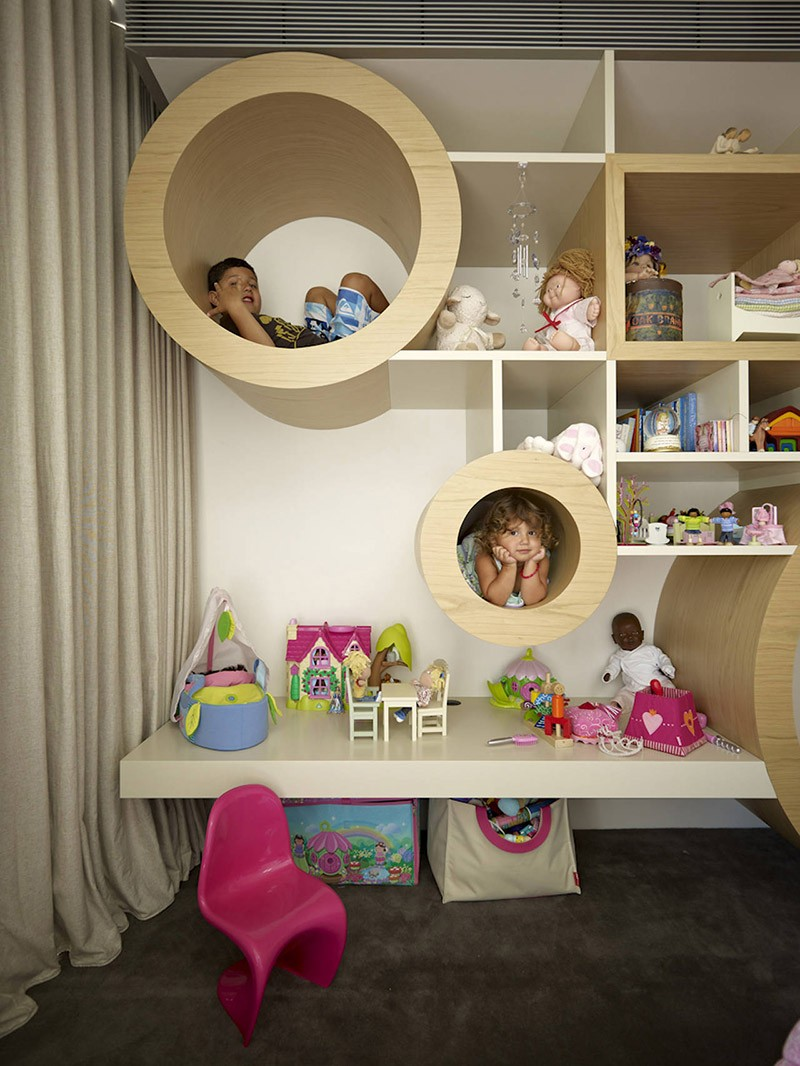 Best Design Detail Creative Kids Room Shelving Contemporist This Month