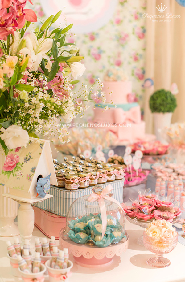 Best Kara S Party Ideas Little Birds Pink And Blue Party This Month