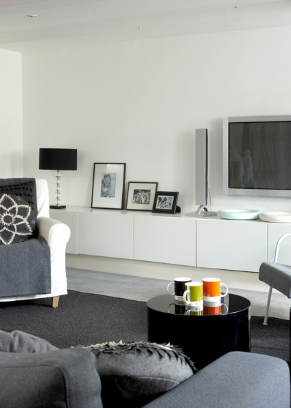 Best Gray Contemporary Modern Family Room Living Room Design This Month
