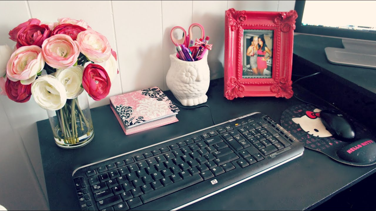 Best Room Decor Office Desk Space Tour And Ideas Youtube This Month