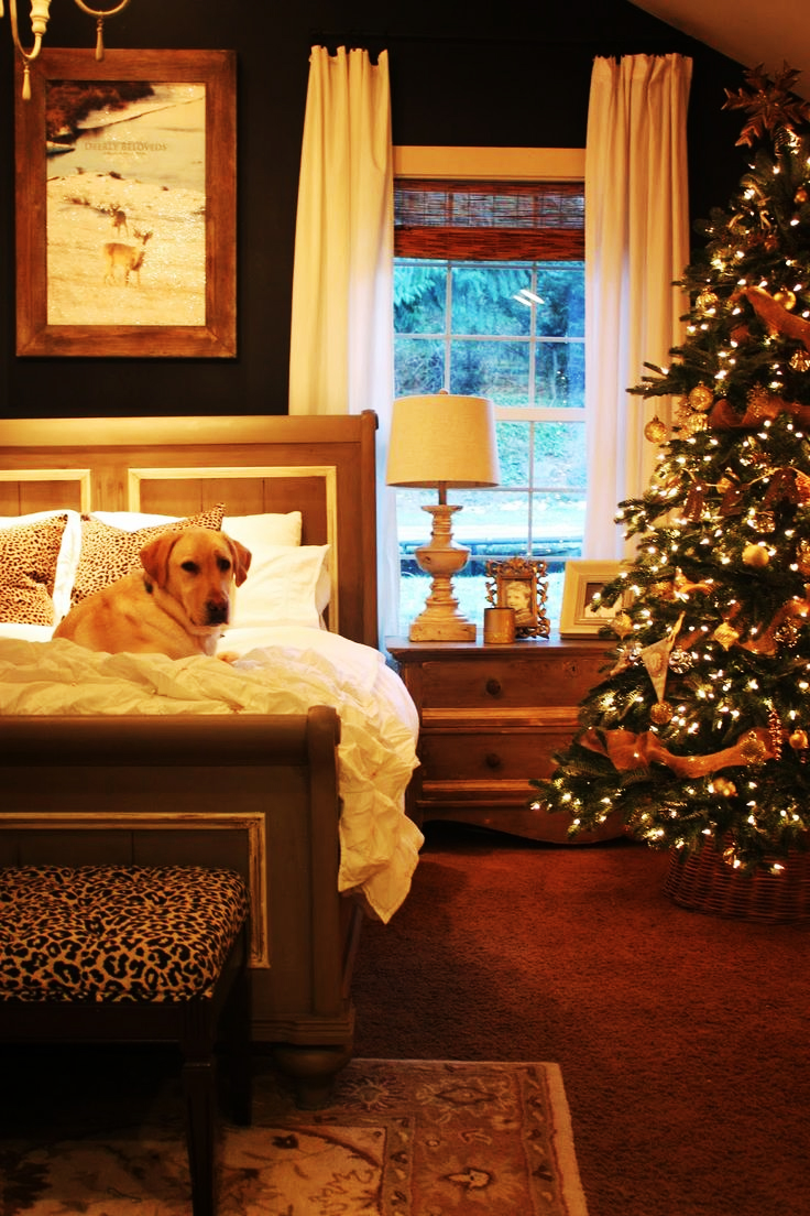 Best 27 Exclusive Bedroom Decorations For Christmas Interior This Month