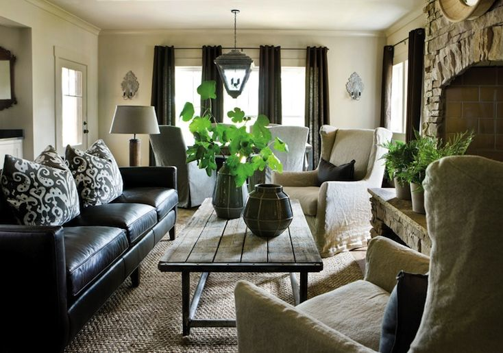 Best How To Decorate A Living Room With A Black Leather Sofa This Month