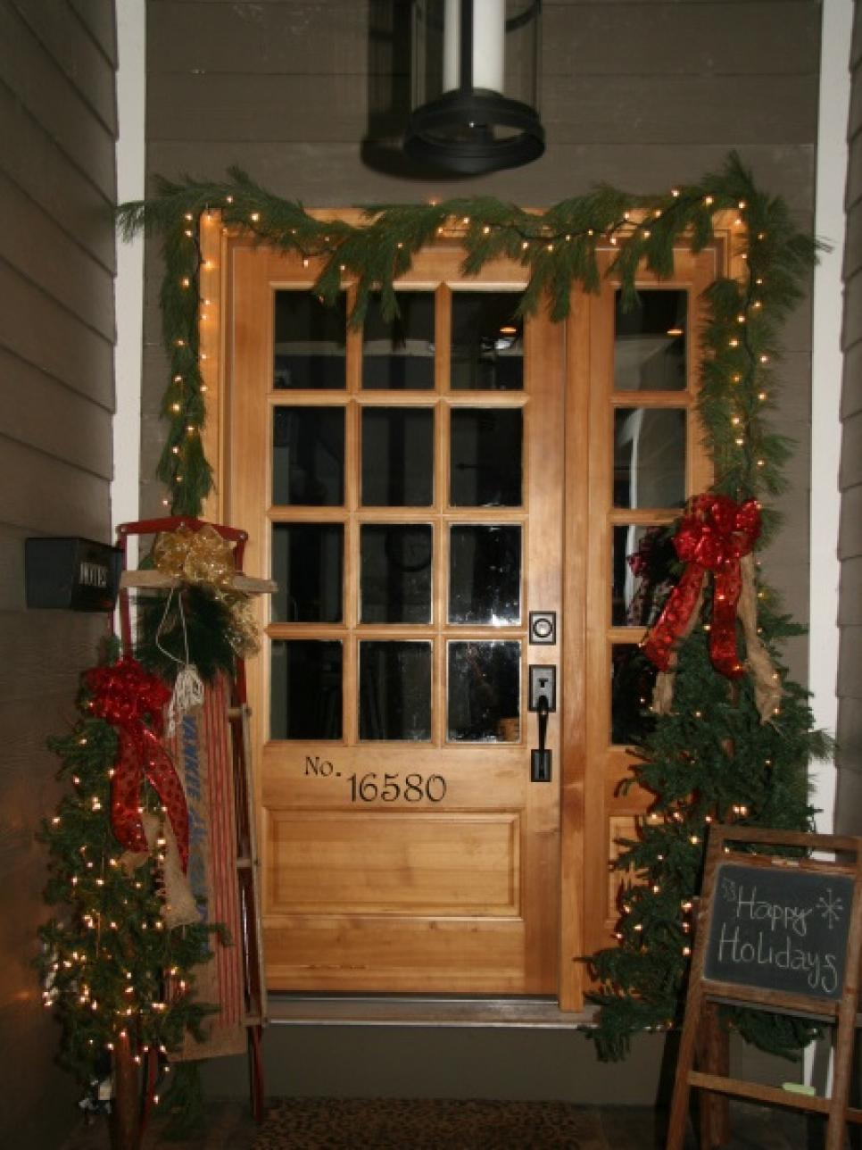 Best 7 Front Door Christmas Decorating Ideas Hgtv This Month