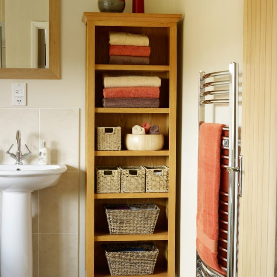Best Line Shelves With Wicker Baskets Bathroom Decorating Ideas Housetohome Co Uk This Month