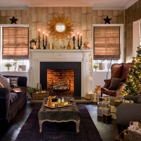 Best Black And Gold Festive Living Room Housetohome Co Uk This Month