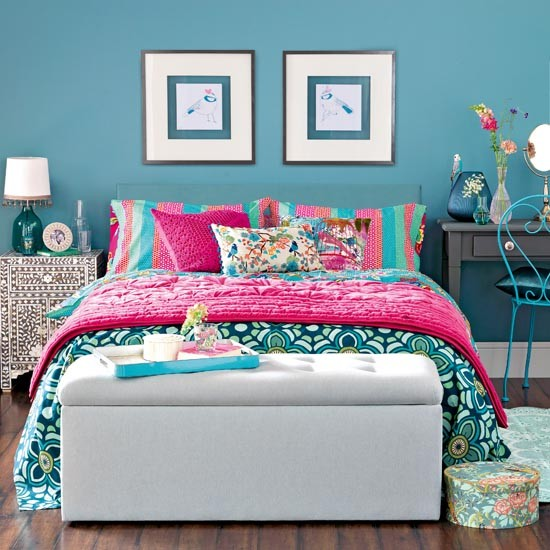 Best Exotic Teal Blue Bedroom Traditional Bedroom Design This Month