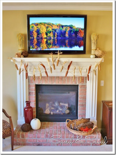 Best How To Decorate A Thanksgiving Mantel Around Your Huge Tv This Month