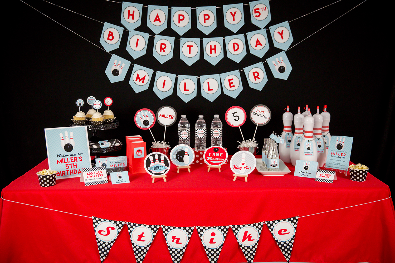Best Printable Bowling Party Decorations And Invitation This Month