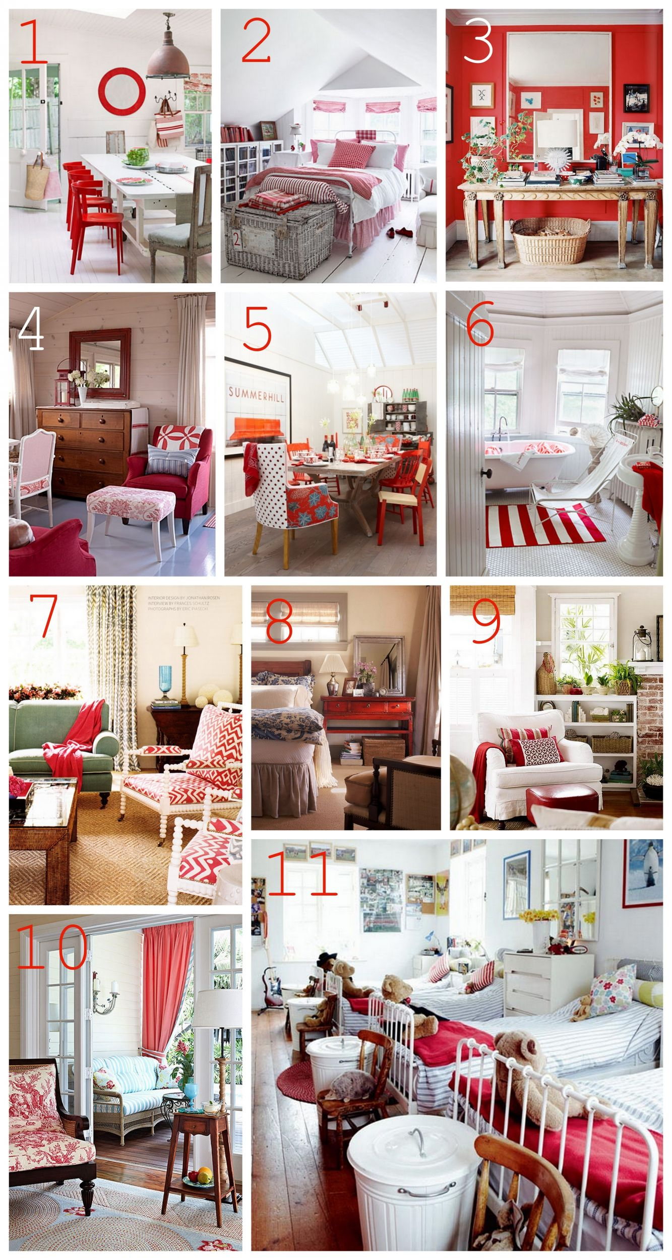 Best Decorating With Red The Inspired Room This Month
