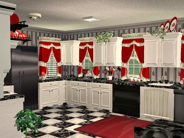 Best Mod The Sims Mcalli S Very Cherry Kitchen This Month