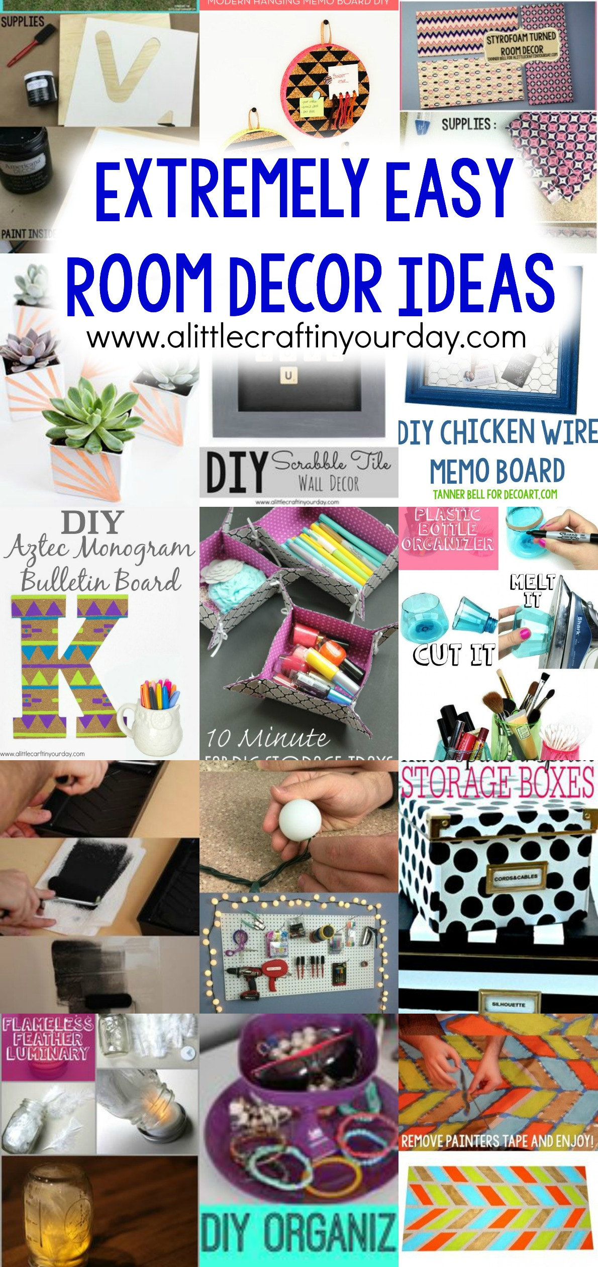 Best Extremely Easy Room Decor Ideas A Little Craft In Your Day This Month