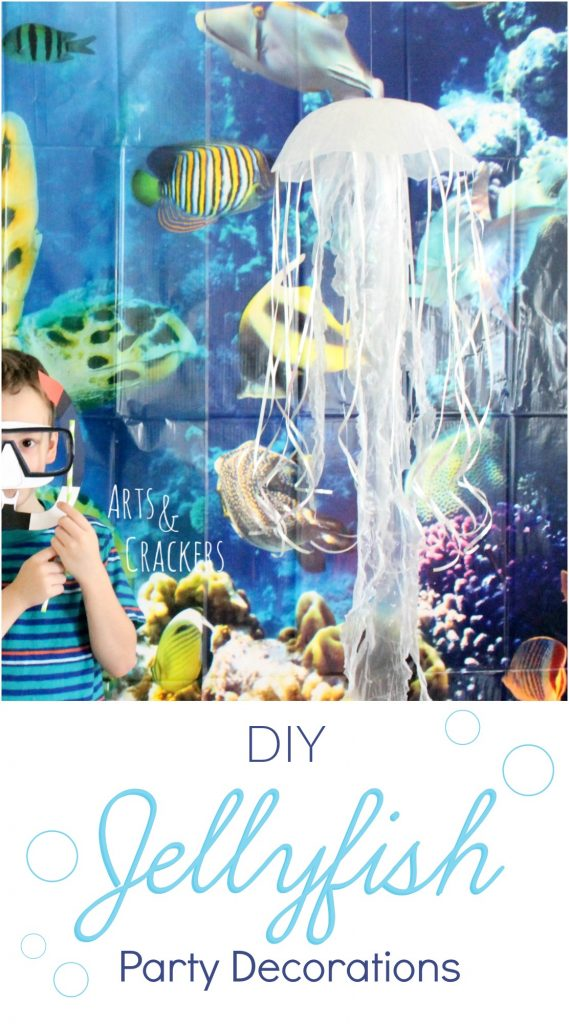 Best Diy Hanging Jellyfish Decoration Ocean Themed Party Decor This Month