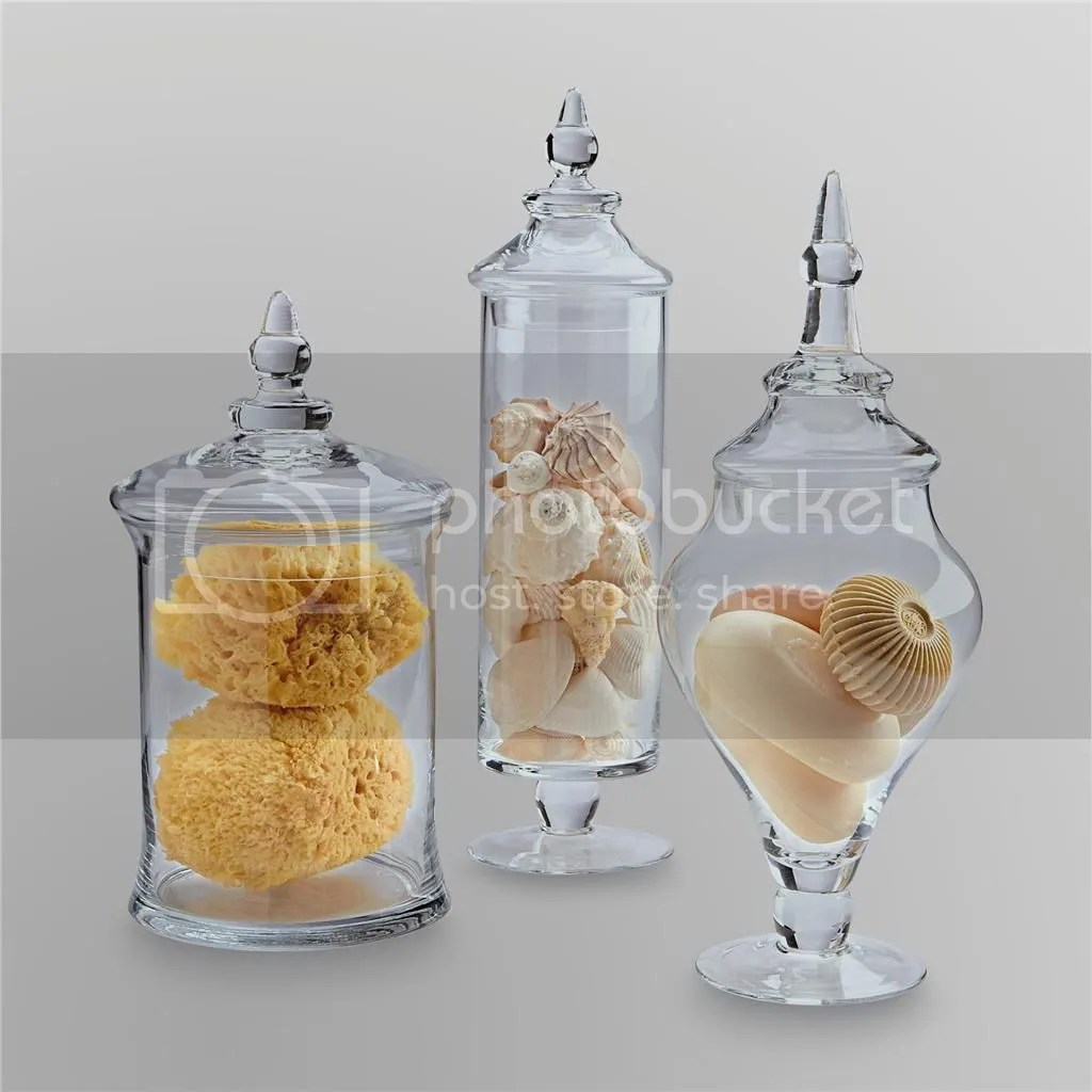 Best New Apothecary Jar Sets Table Decor Glass 3 Piece Storage This Month