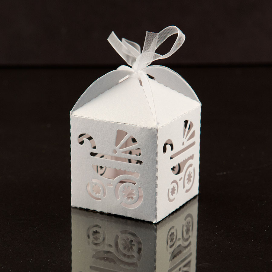 Best White Baby Carriage Favor Candy Box Party Baby Shower This Month