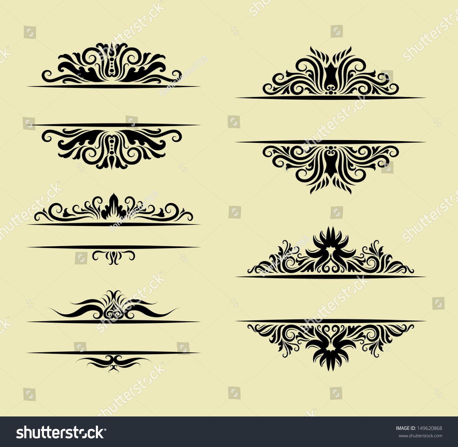 Best Floral Ornament Decorations Blank Label With Drawing This Month