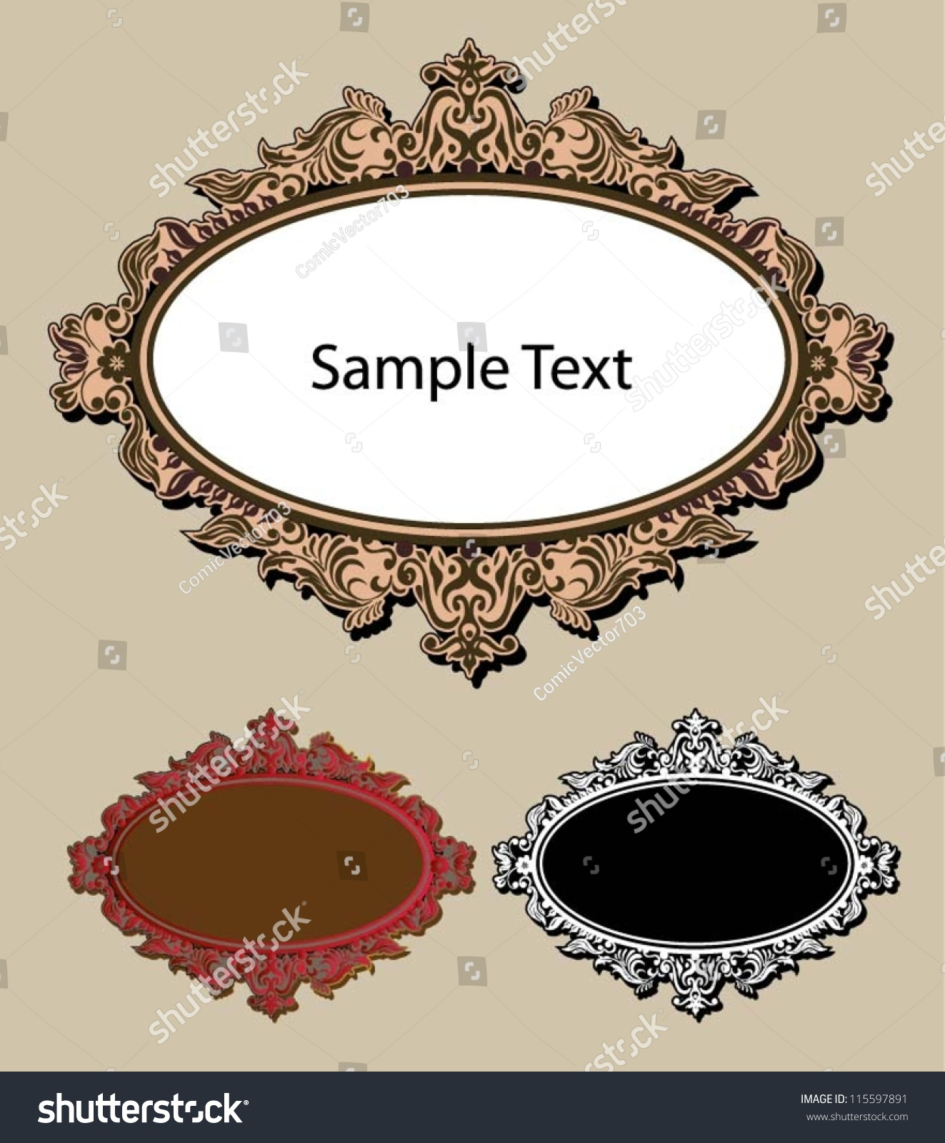 Best Frame Ornament 1 Oval Blank Label With Decorative Flora This Month