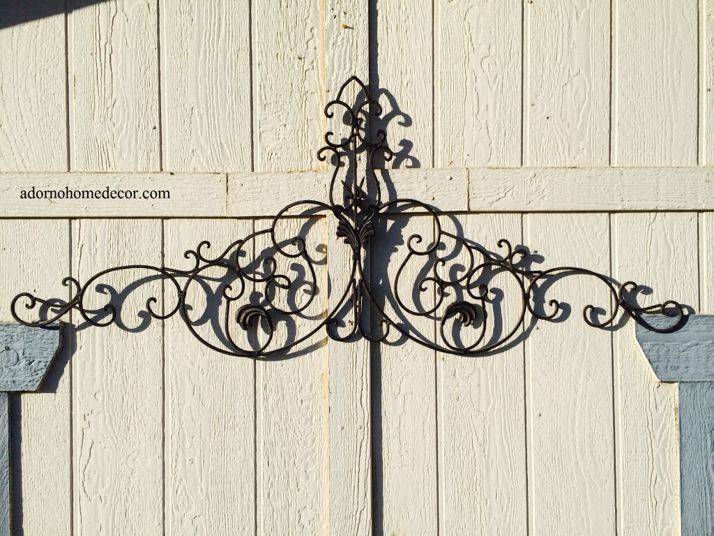 Best Large Tuscan Wrought Iron Metal Wall Decor Rustic Antique This Month