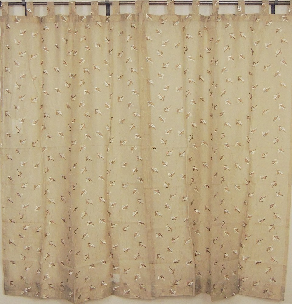Best Tab Top Sheer Panels 2 Embroidered Ecru Decorative Window This Month
