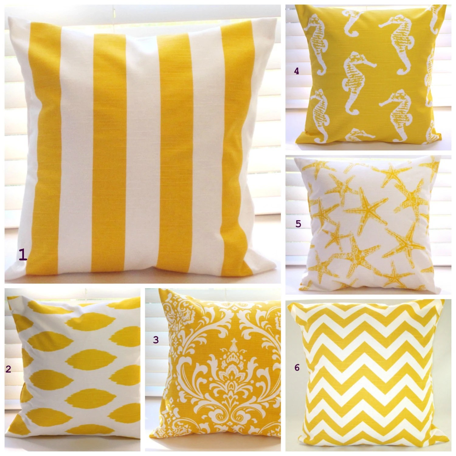 Best Pillows Beach Decor Yellow Pillows Throw Pillows By This Month