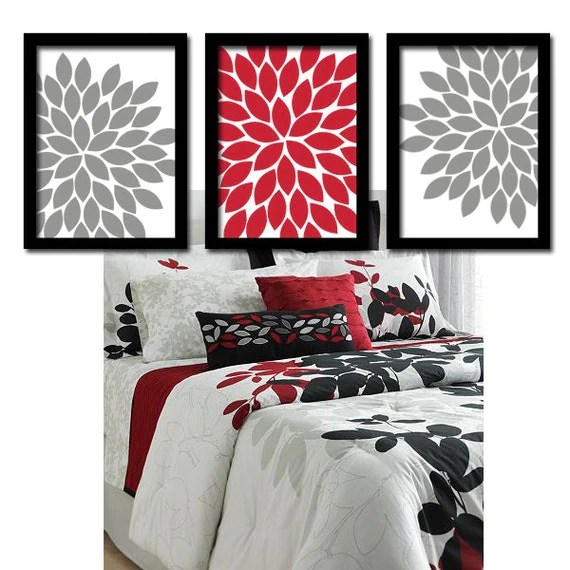 Best Red Gray Wall Art Bedroom Wall Art Canvas Or Prints By This Month