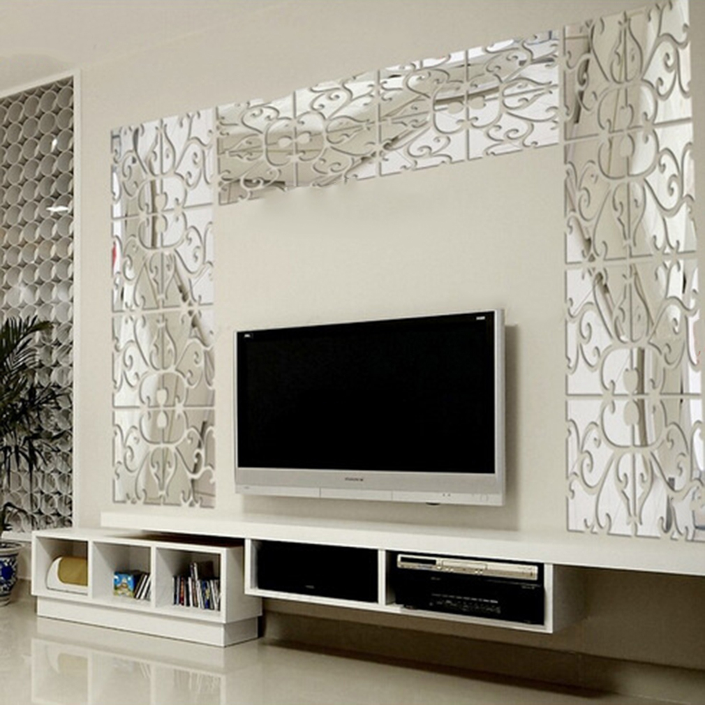Best Modern Geometric Plastic Mirror Wall Home Decal Decor This Month