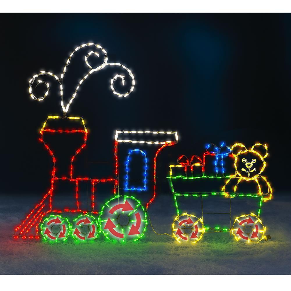 Best The 6 Foot Animated Holiday Locomotive Outdoor Christmas This Month Original 1024 x 768