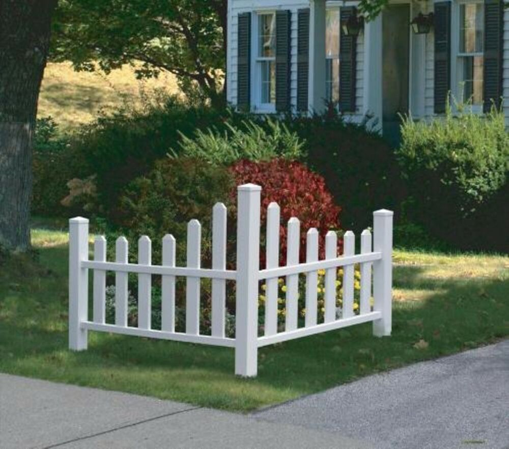 Best Decorative Vinyl Outdoor Country Corner White Picket Fence This Month
