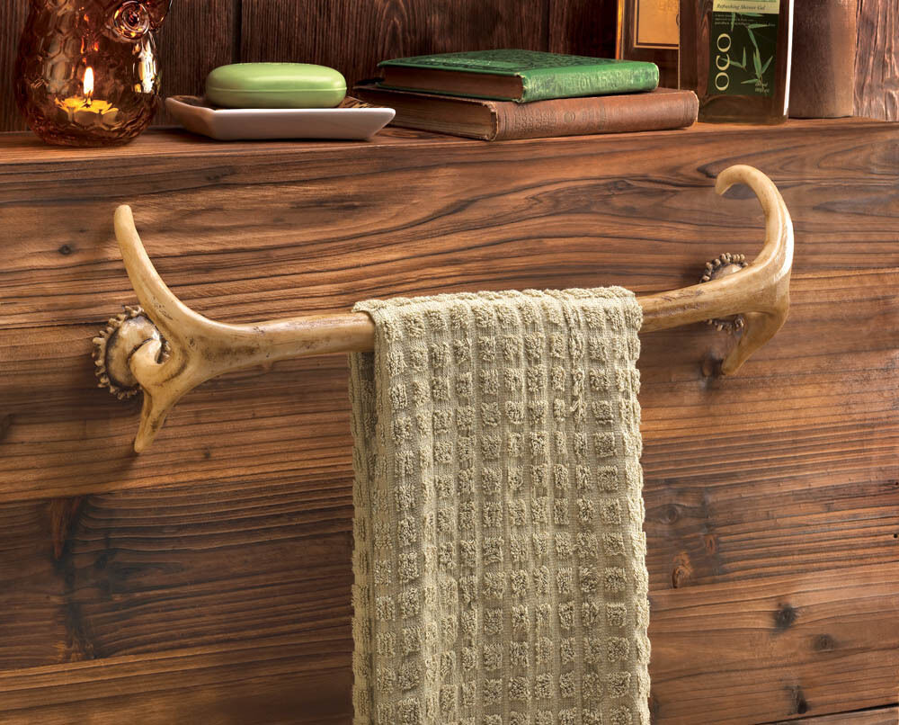 Best Deer Antler Hunting Lodge Cabin Rustic Decor Bathroom Bath This Month