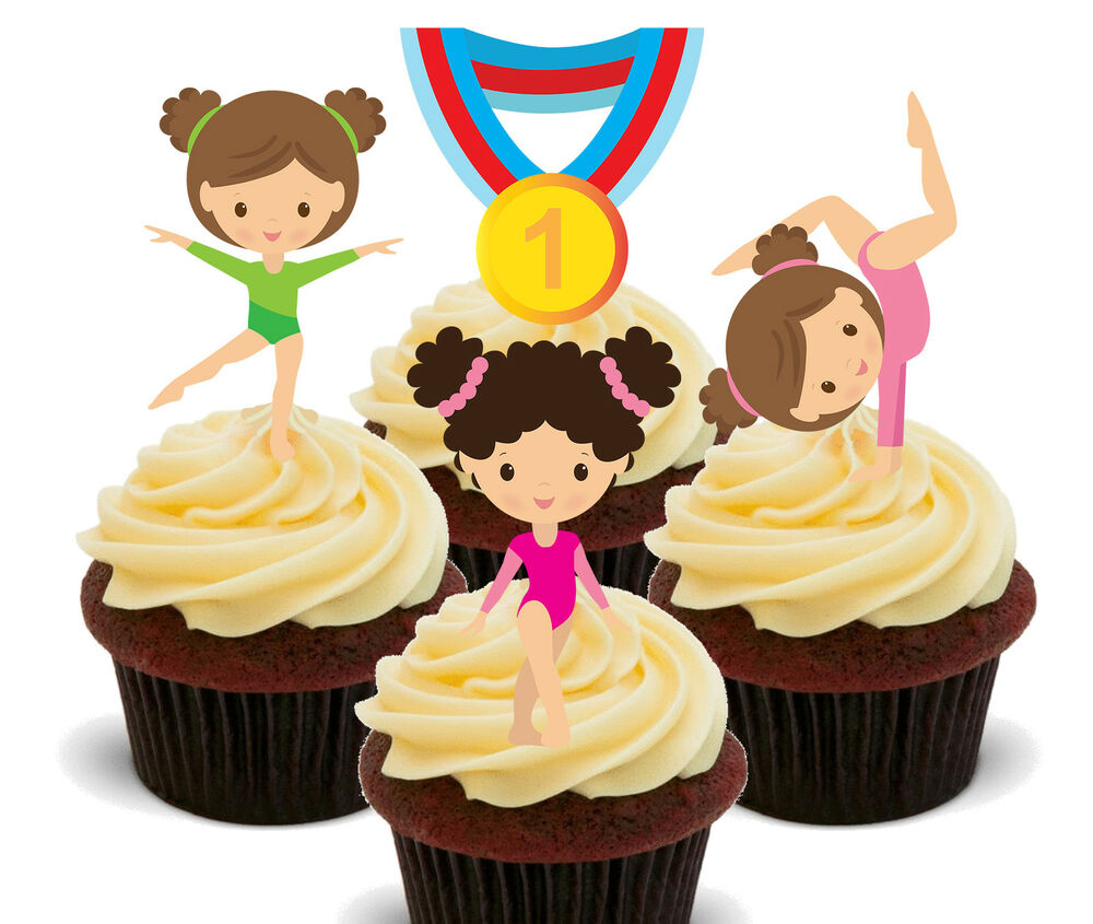 Best Gymnastics Edible Cupcake Toppers Standup Fairy Cake This Month