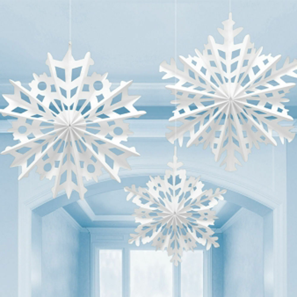 Best 3 Christmas Large Snowflake Ceiling Paper Fans Hanging This Month