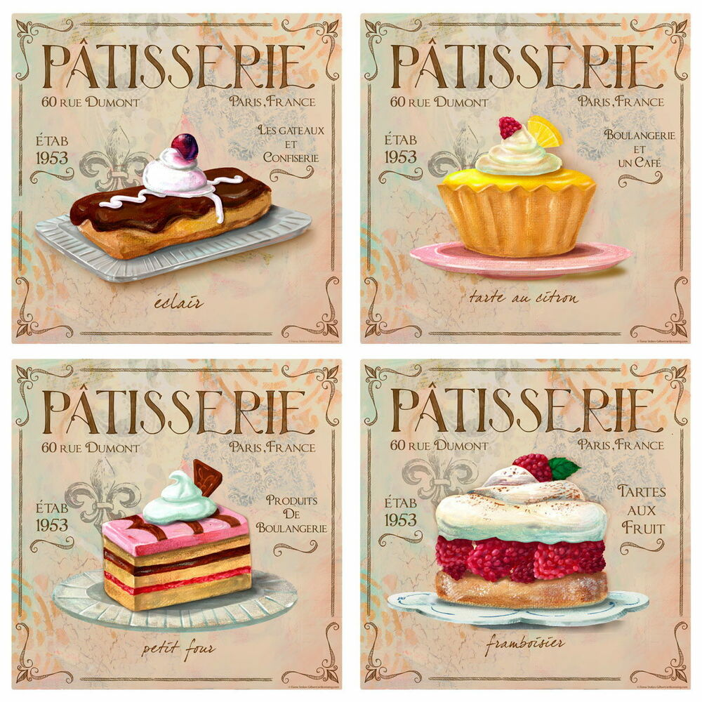 Best Patisserie French Bakery Wall Decal Set Vintage Style Home This Month