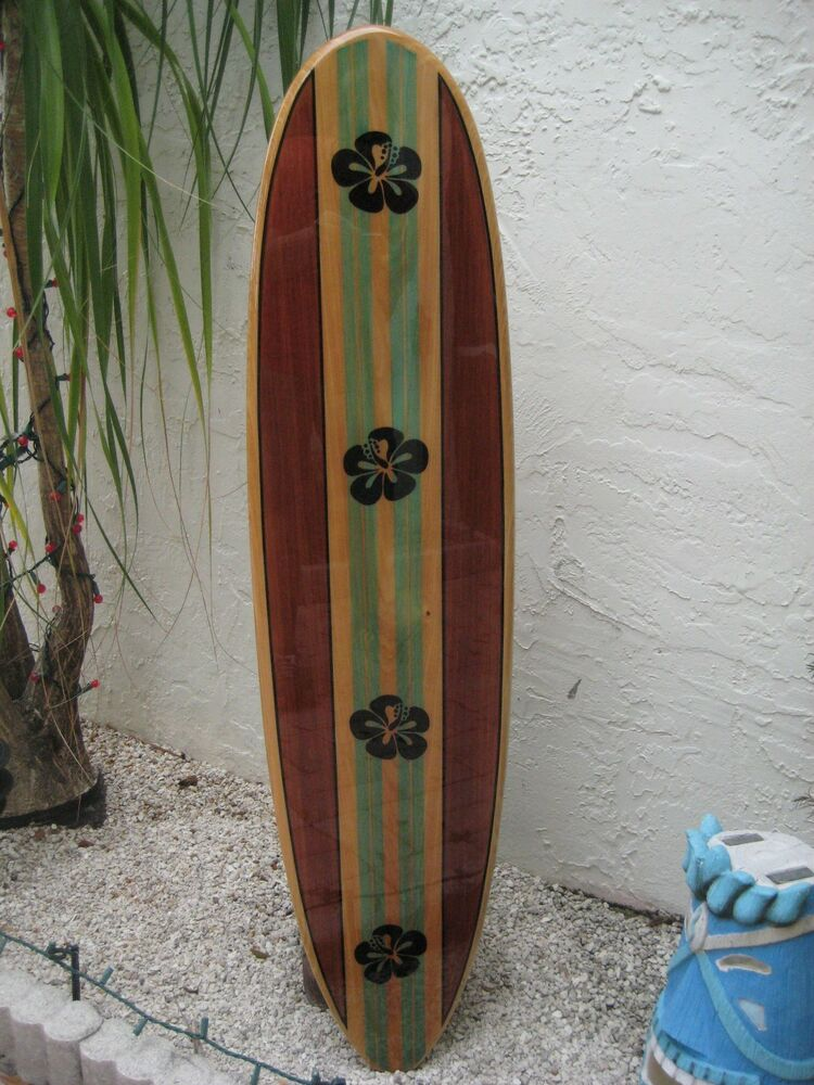 Best Tropical Decorative Wood Surfboard Wall Art For A Coastal This Month