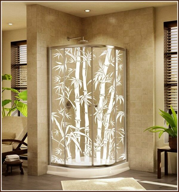 Best New Big Bamboo Etched Glass Clear Decorative Static Cling This Month