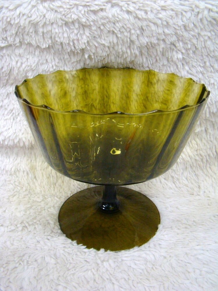 Best Vintage Large Green Colored Glass Fruit Candy Bowl This Month