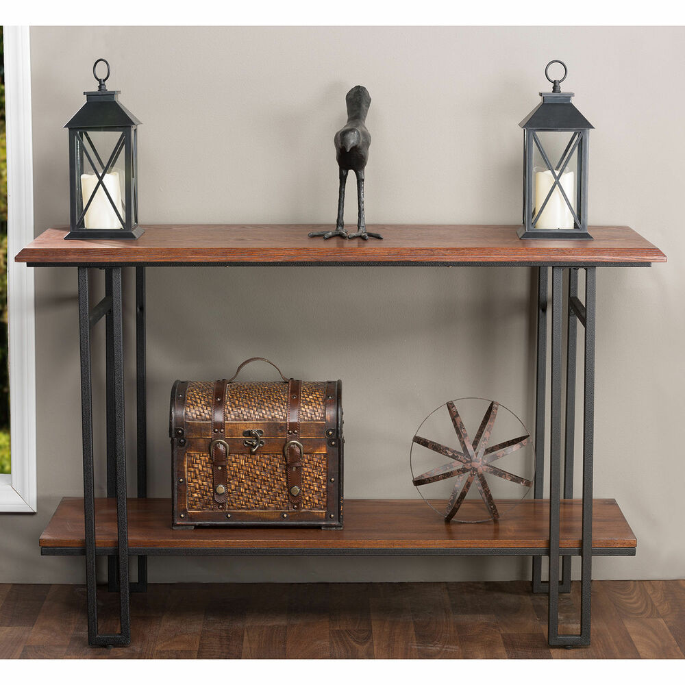 Best Newcastle Wood And Metal Console Table Furniture Living This Month