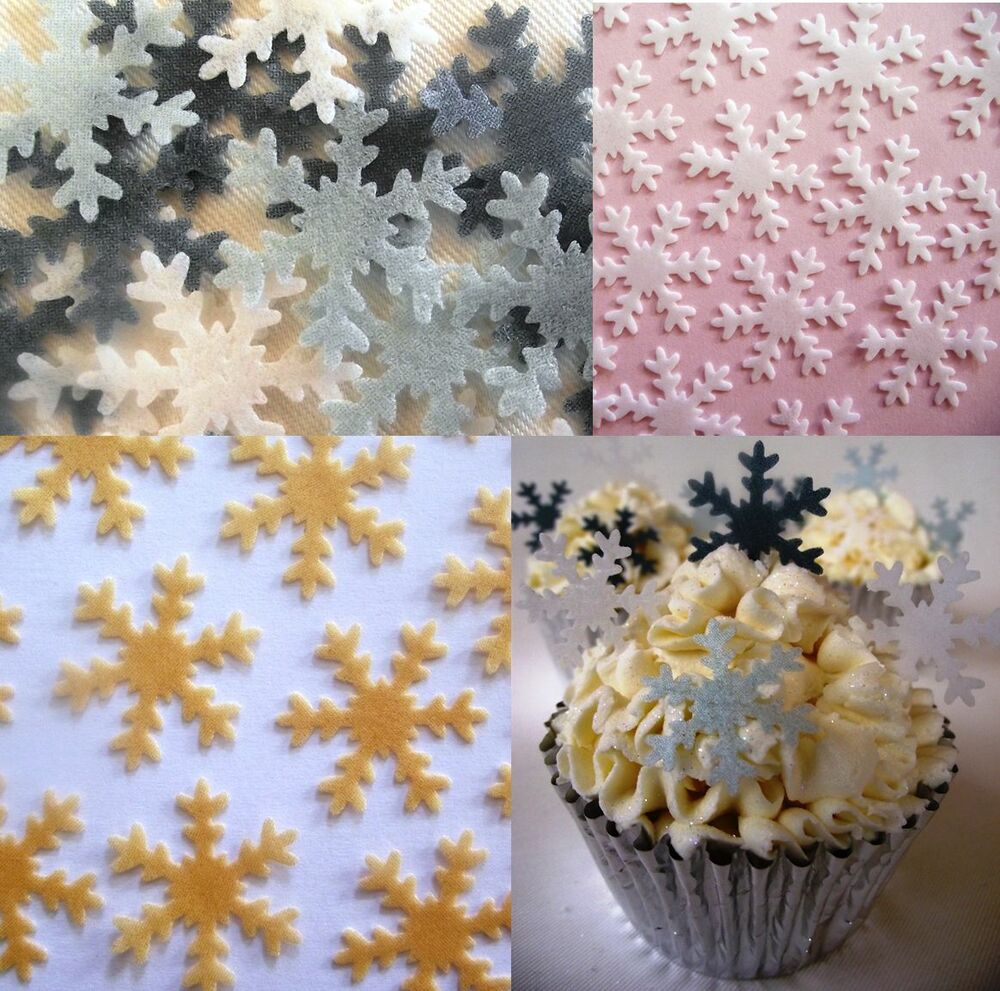 Best Christmas Cake Decorations Cupcake Snowflakes Edible This Month