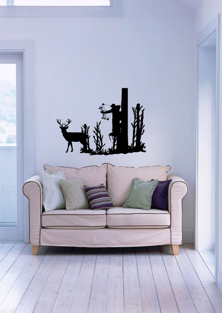 Best Deer Whitetail Buck Bow Hunting Hunter Wall Art Home Decor This Month