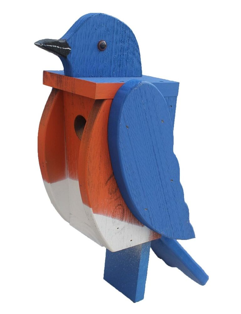 Best Bluebird Birdhouse Solid Wood Large Blue Bird House This Month