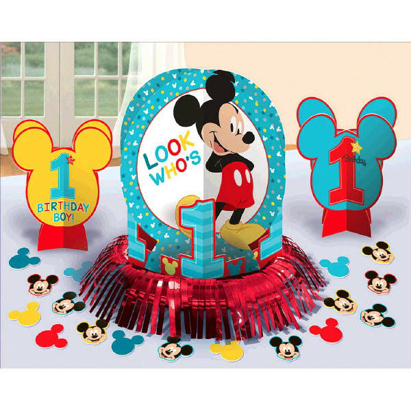 Best Baby Mickey Mouse 1St Birthday Party Table Decoration Kit This Month