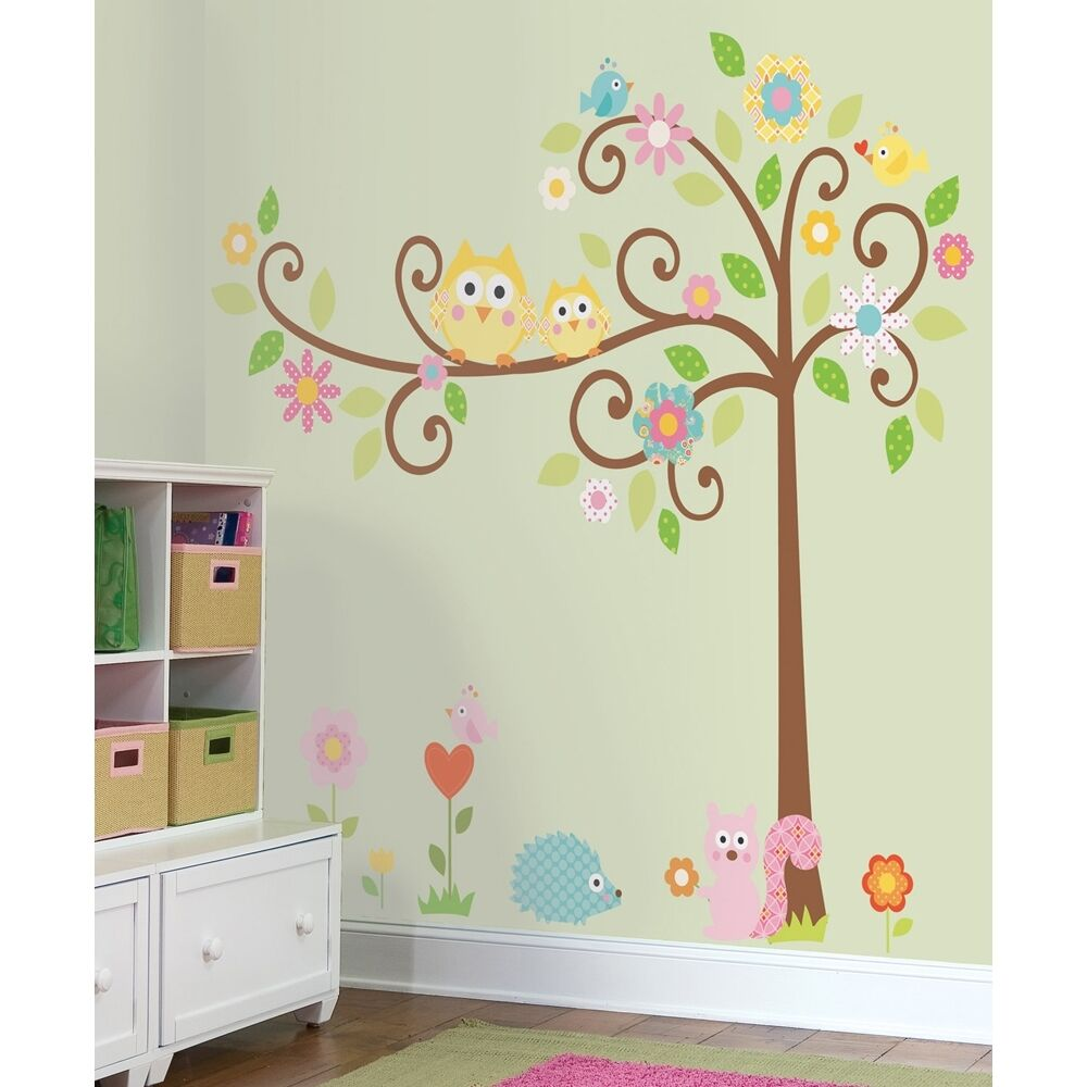 Best New Giant Scroll Tree Wall Decals Baby Nursery Stickers This Month