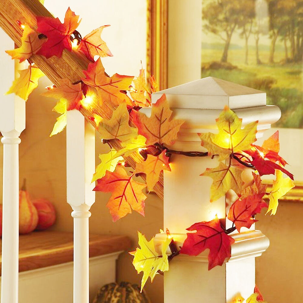 Best Fall Thanksgiving Maple Leaf Garland Decoration Decor Led This Month