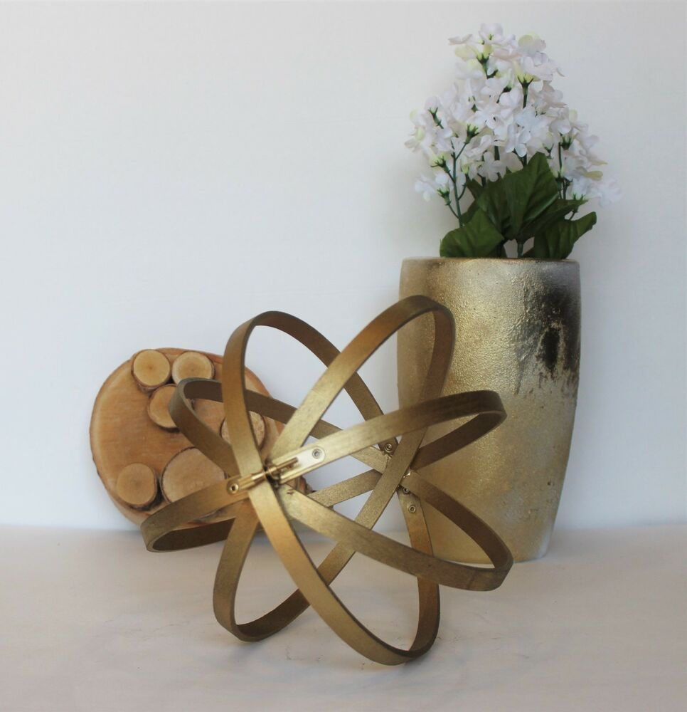 Best Decorative Orbs Wood Metal Ball Rustic Home Decor Spheres This Month