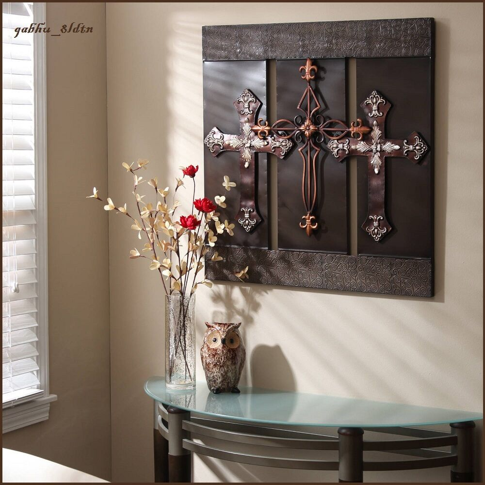 Best 3D Wall Art Metal Sculpture Large Bronze Crosses Elegant This Month